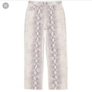 Zara Premium Cropped Snake Print Jeans